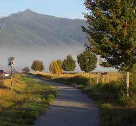 River walk path in Stevensville, MT